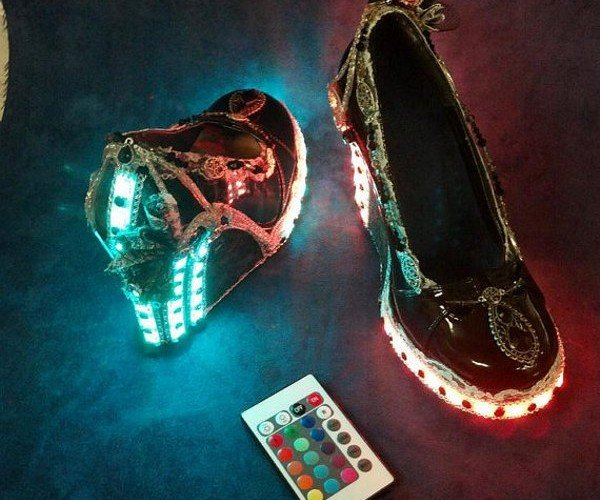 Steampunk Heels with Lace, Jewels, and LED Lighting – What More Can You Ask for?