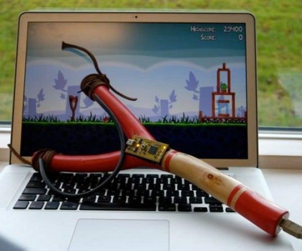 Angry Birds USB Slingshot Fires Virtual Avian Ammo