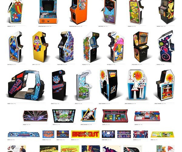Vintage Arcade Mega Poster, Gotta Play Them All