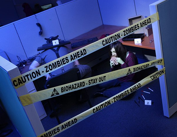 biohazard and crime scene tape from thinkgeek