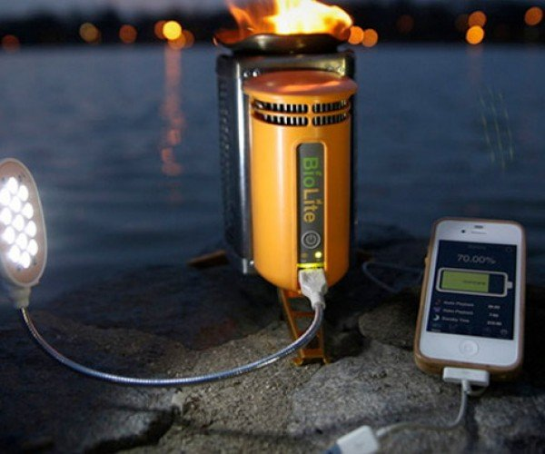 BioLite CampStove Generates Electricity to Charge Your Gadgets