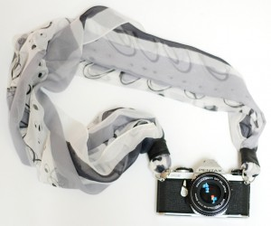 DIY Scarf Camera Strap Keeps Your Camera on with Style