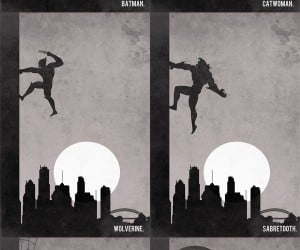 Superheroes and Villains CLIMB a Wall