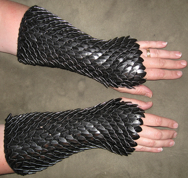 dragonhide gauntlets by crystals idyll