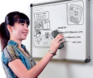 Erascan Concept Whiteboard Eraser Can Save While Deleting