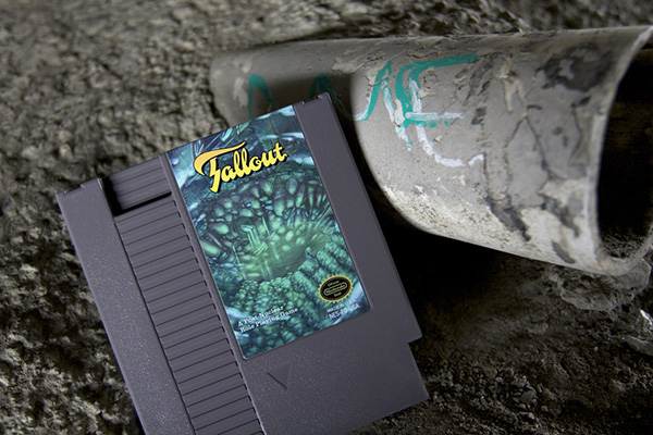 fallout nes cartridge by nick robalik and 72pins