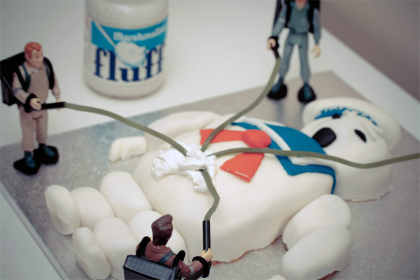 Marshmallow Man Birthday Cake