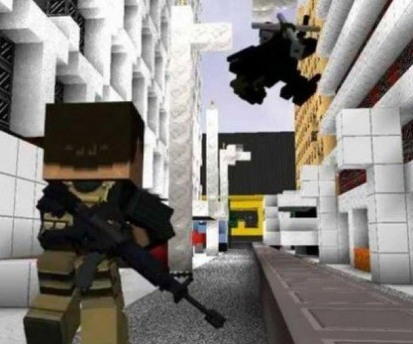 Modern Warfare 3 + Minecraft = Guncraft
