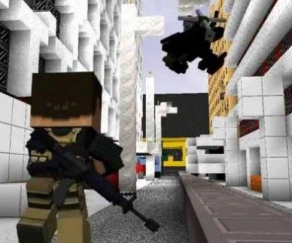 Modern Warfare 3 + Minecraft = Guncraft