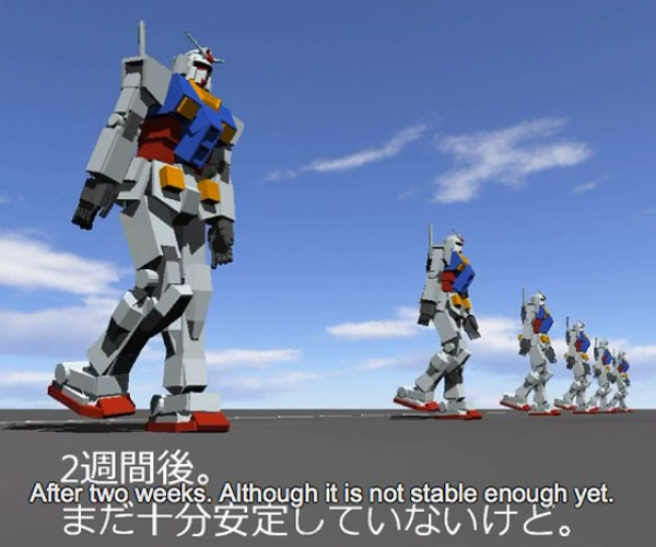 Gundam Learns How to Walk
