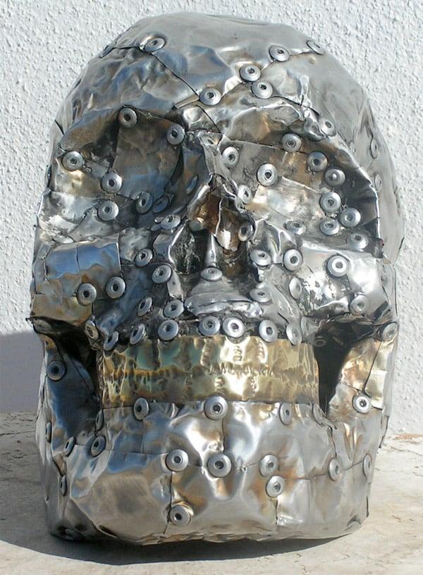 handmade metal skull 2
