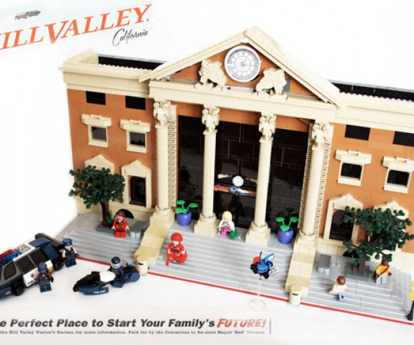 Hill Valley 2015 from Back to the Future II Recreated in LEGO