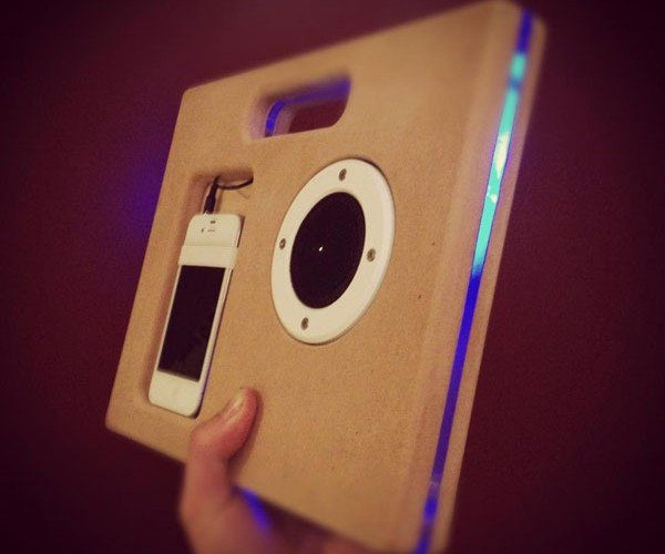 Wood iPhone Boombox Gets Birthed by Shopbot