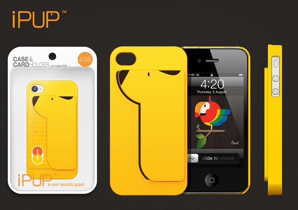ipup credit card case iphone secure