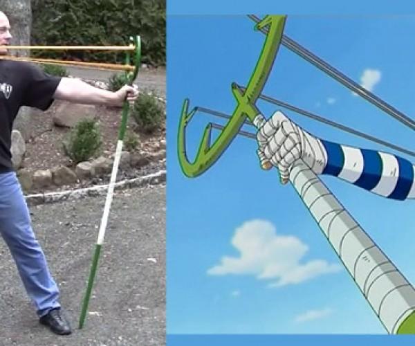 One Piece Slingshot Spear Gets Real, Courtesy of Joerg Sprave