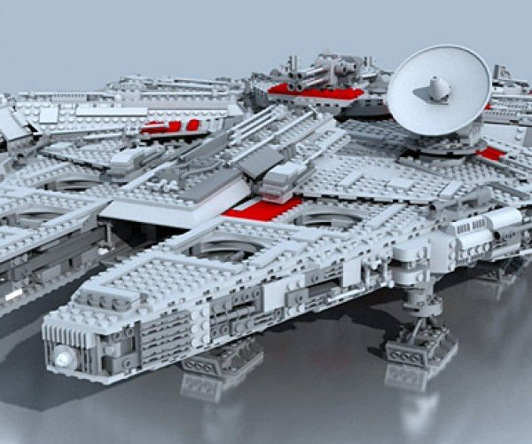 Building the LEGO Millennium Falcon Recreated in CGI