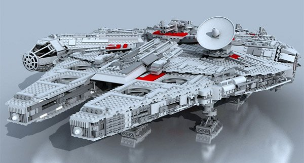 lego millennium falcon model
