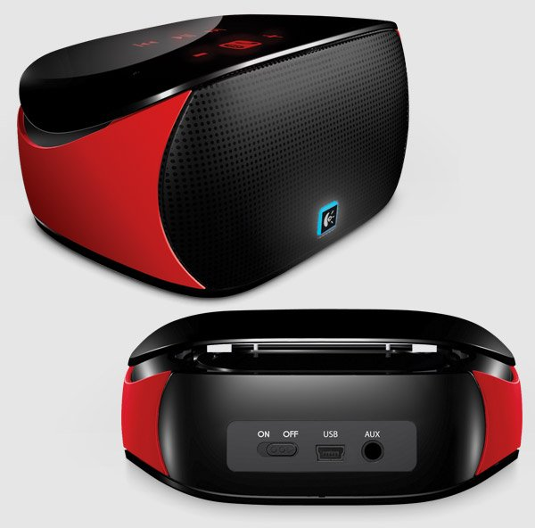 logitech red mini boombox 2