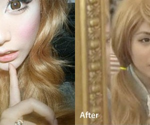 South Korean Girl Removes Her Makeup After Two Years, Now Looks Twice Her Age