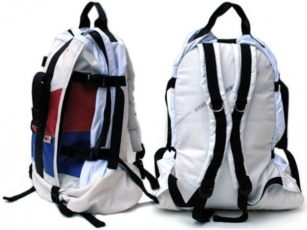 mariclaro airbag backpack upcycled
