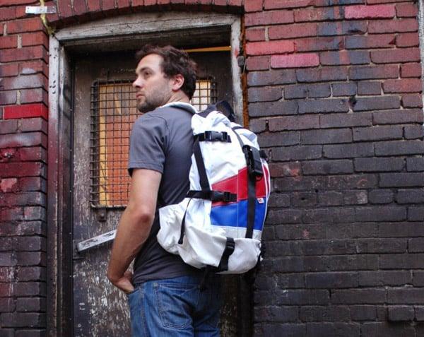 mariclaro airbag backpack upcycled