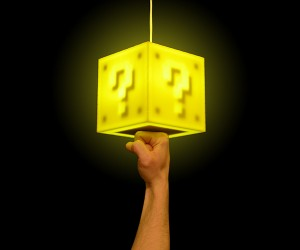 Mario Question Block Lamp Literally Lets You Punch the Lights Out