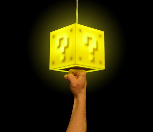 mario question block lamp by 8 bit lit