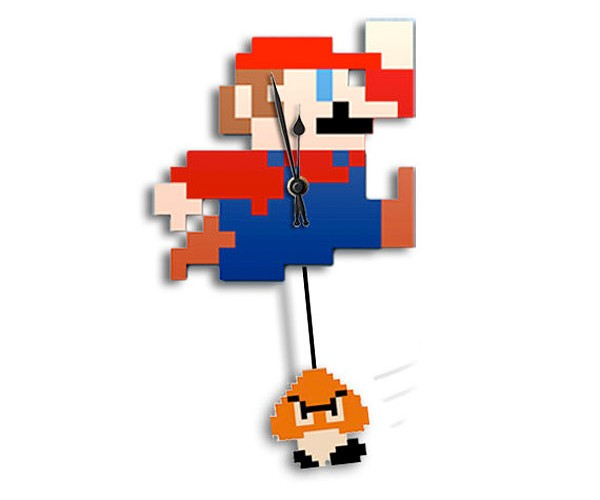 Mario Clock with Goomba Pendulum: How's Your Goomba Hangin?
