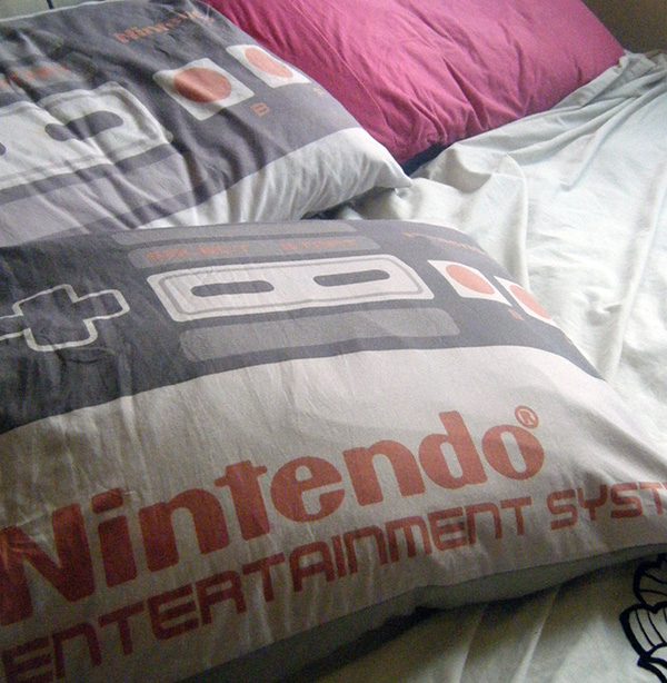 nintendo nes pillowcase and cushion cover by emelitje
