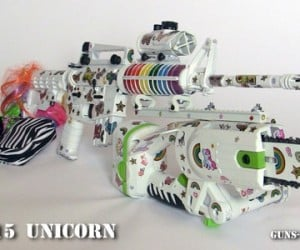 OMG-AR15 Unicorn Zombie Gun: My Little Killing Machine