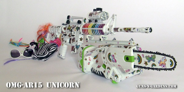 omg ar15 unicorn gun