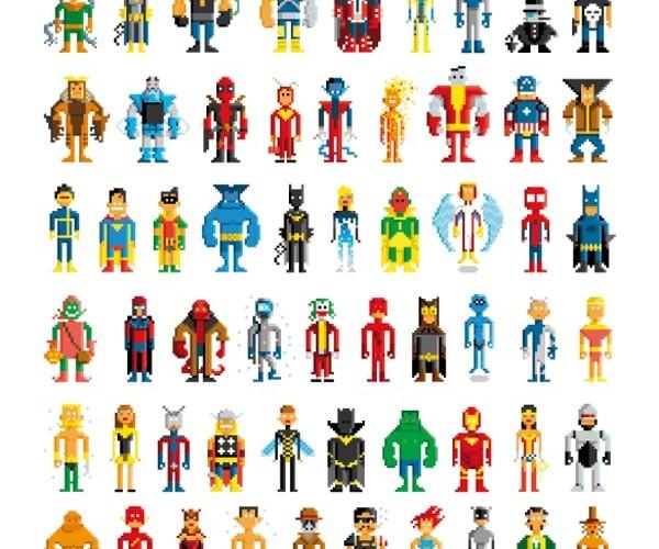 Pablo Cialoni's Pixel Superheroes: Heroic Bits