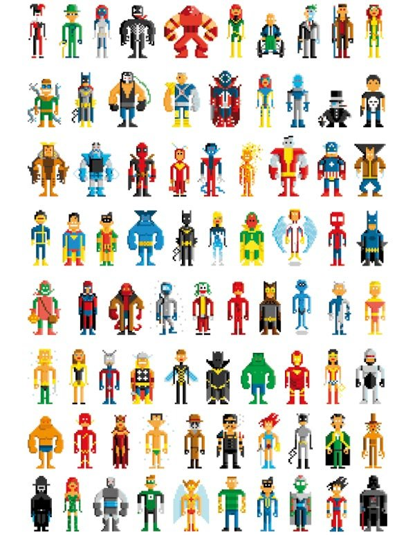 pablo cialoni pahito pixel superheroes