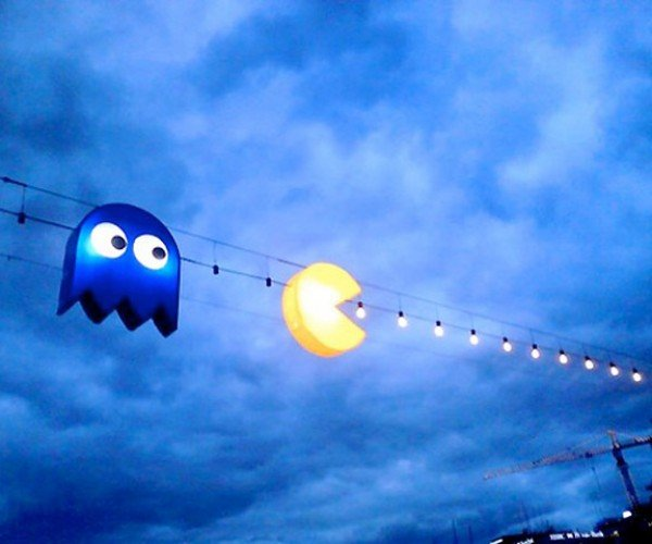 Pac-Man Gobbles Up Some Light Bulbs