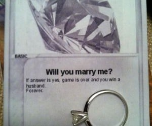 Guy Proposes with a Pokémon Card