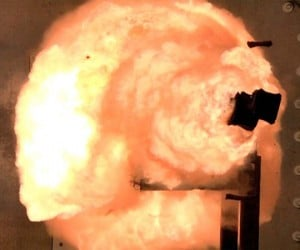 Navy Records 32-Megajoule Railgun Firing on Video