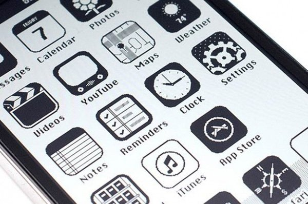 retro iphone design ios 86