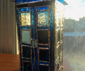 Stained Glass TARDIS from the Church of Whovians