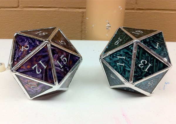 stained glass d20 dice