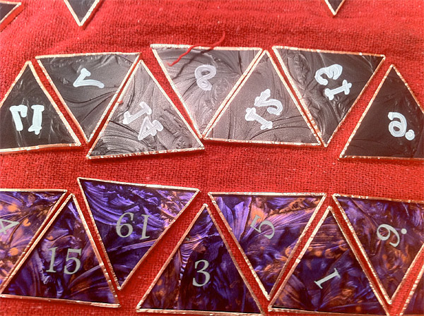 stained glass d20 dice 2