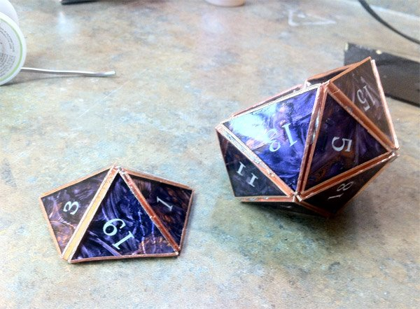 stained glass d20 dice 3