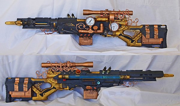 steampunk nerf rifle by vanbangerburger 2