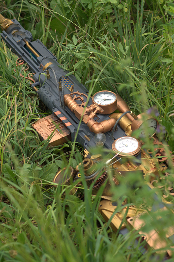 steampunk nerf rifle by vanbangerburger 3