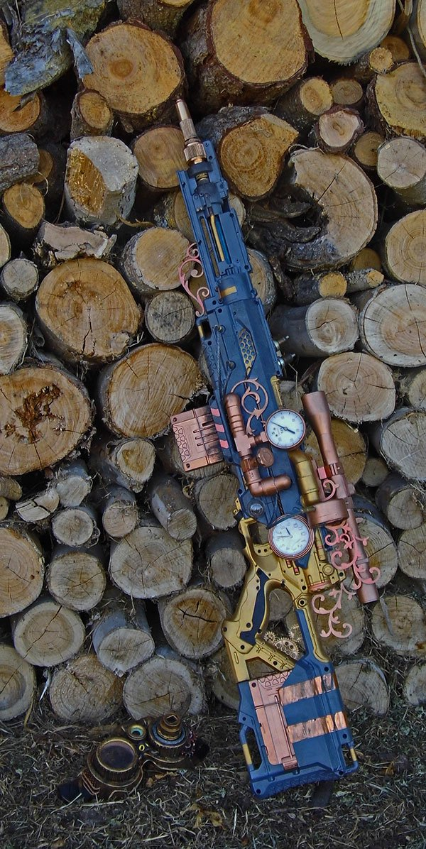 steampunk nerf rifle by vanbangerburger 4