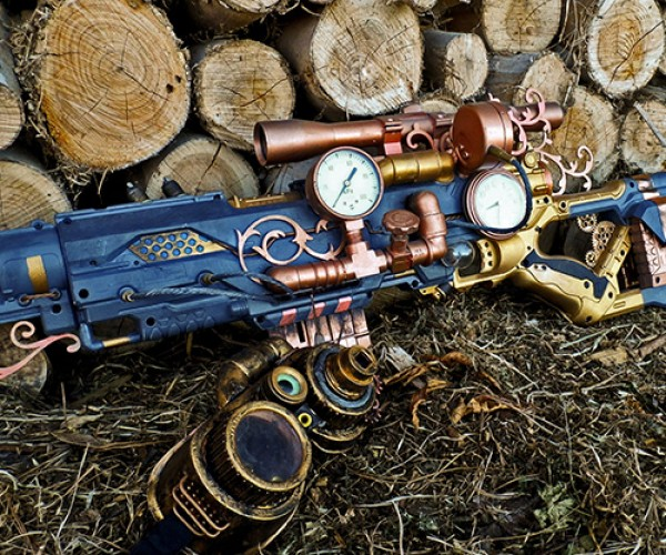 Steampunk NERF Rifle: A Staple of 19th Century Tomfoolery