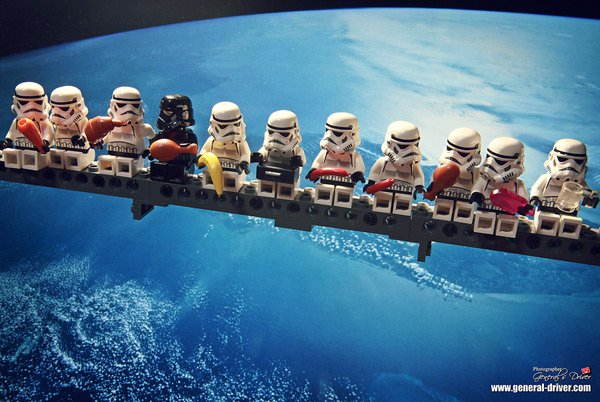 stormtroopers star wars taking break lego