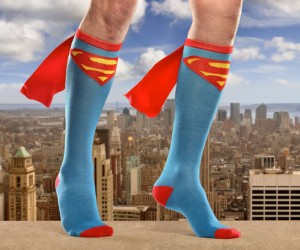 Superman Caped Socks Add a Heroic Touch to Flabby Calves