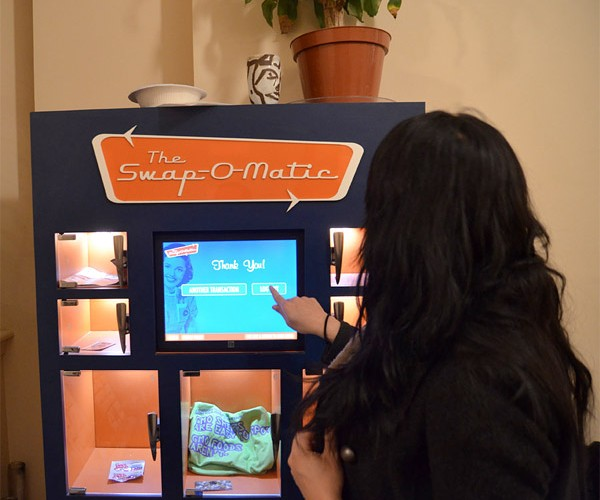 Swap-O-Matic Vending Machine: Swap Outside the Box
