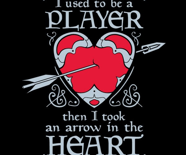 Then I Took an Arrow in the Heart T-Shirt: for Skyrim Sweethearts