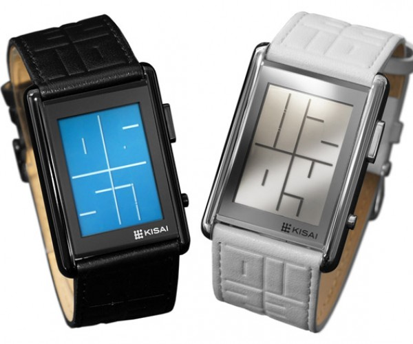 Tokyoflash Kisai Stencil Watch Tells Time in Negative Space